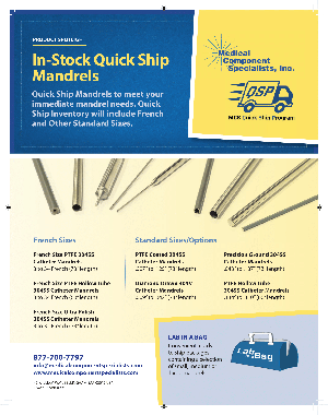 Click to View the In-stock Quick Ship Mandrels PDF